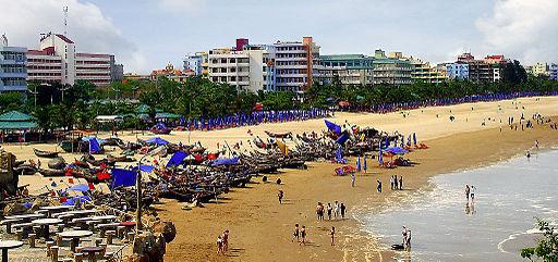 Bãi biển Sầm Sơn ở Thanh Hóa