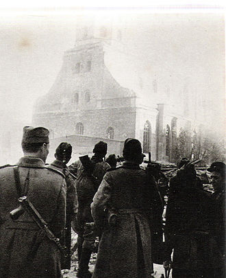 Riga Offensive (1944) - Soviet troops in Riga, October 1944