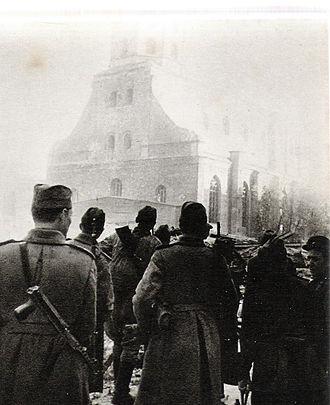 Riga Offensive (1944) - Soviet troops in Riga, October 1944