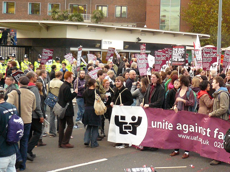 BBC Television Centre Question Time BNP Protest