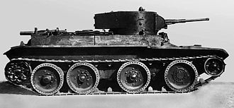 BT tank - BT-5 Side view