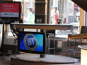 Breakfast Television (City Toronto) - The primary desk for Breakfast Television, at 33 Dundas Street