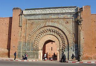 Bab Agnaou city gate of Marrakesh, Morocco
