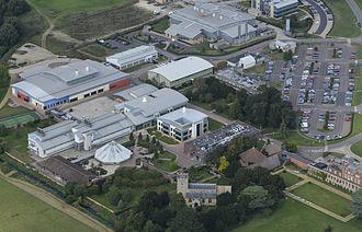 Babraham Institute - Aerial View of the Babraham institute in 2014