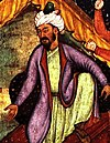 Emperor Babur from a Mogul Miniature Painting