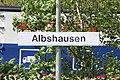 Bahnhof Albshausen 9 - Detail Schild an Gleis 1.jpg