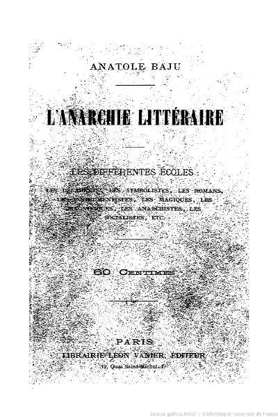 File:Baju - L'Anarchie littéraire, 1892.djvu