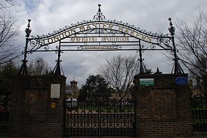 Bakers Arms - Gates to the London Master Bakers' Benevolent Institution almshouses