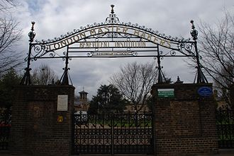 Leyton - Gates to London Master Bakers' Benevolent Institution almshouses