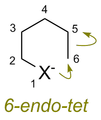 Baldwin rules for ring closure - 6-endo-tet cyclization.png
