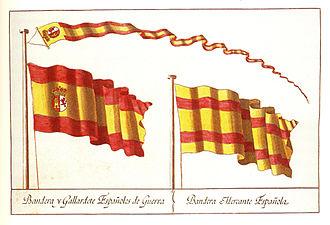 Flag of Spain - Image: Banderas elegidas por Carlos III