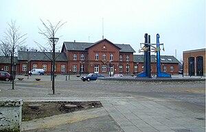 Viborg, Denmark - Front façade of Viborg station.