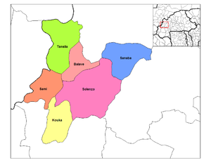 Departments of Burkina Faso - Departments of Banwa