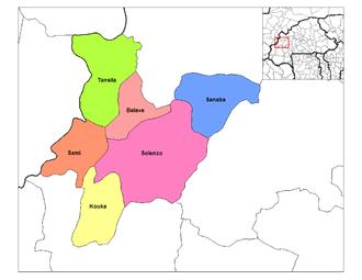 Departments of Burkina Faso - Departments of Banwa