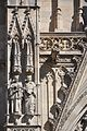 Barcelona. Cathedral church of the Holy Cross and Saint Eulalia. Neo-Gothic facade. Saints Joseph Oriol and Raymond of Penyafort. 1887-1890. Agapit Vallmitjana, sculptor (28007197762).jpg