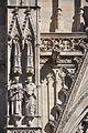 Barcelona. Cathedral church of the Holy Cross and Saint Eulalia. Neo-Gothic facade. Saints Joseph Oriol and Raymond of Penyafort. 1887-1890. Agapit Vallmitjana, sculptor (28007197762).jpg