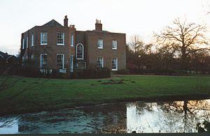 Barkham - Barkham Manor house in winter
