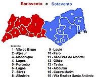 mapa concelhos algarve Algarve – Wikipédia, a enciclopédia livre mapa concelhos algarve