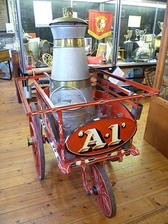 Barnet Museum - Milk delivery cart.