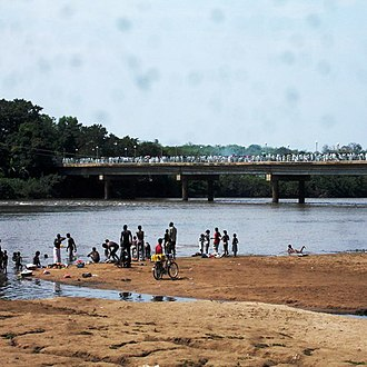Anuak people - Anuak people on the banks of the Baro River in the Gambela Region.
