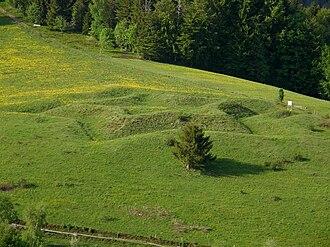 Baroque fortifications in the Black Forest - Star schanze at the Böllener Eck near Neuenweg