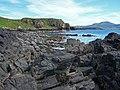 Basalt rocks and low cliffs - geograph.org.uk - 1368028.jpg