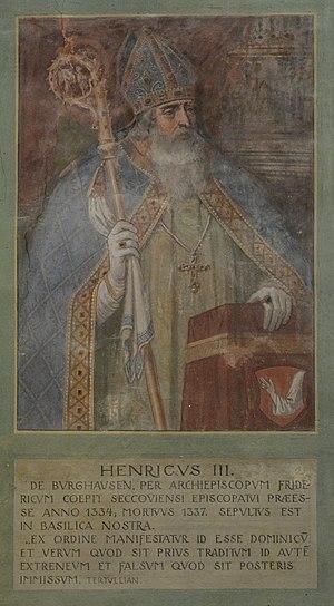 Basilika Seckau, Bischofskapelle, Halbfigurenportrait Bischof Heinrich III. von Burghausen.jpg
