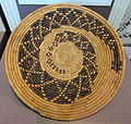 Basketry tray of the Kumeyaay people, made by Carmalita LaChappa, Campo, California, 1936 - San Diego Museum of Man - DSC06902.JPG