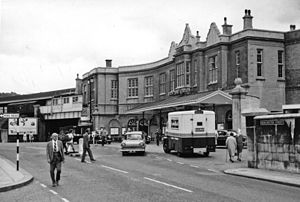 Bath Spa railway station - Bath Spa station in 1962