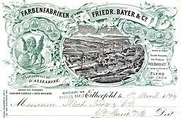 Bayer Rechnung 1899, Unbekannte Autoren und Grafiker; Scan vom EDHAC e.V., Public domain, via Wikimedia Commons