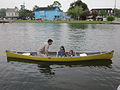 Bayou St John 4th of July NOLA 2012 Dad Girls Lifevests.JPG