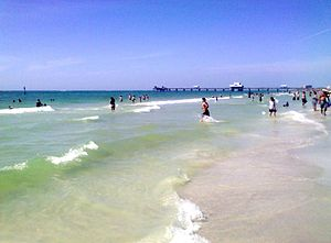 Beautiful Crystal clear Surf at Pier 60 in April 2013.jpg
