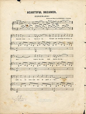 "Sheet music: ""Beauiful Dreamer"" by S..."