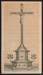 Beeldhouwwerk van de kruisiging op de Meir, Antwerpen