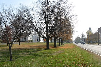 National Register of Historic Places listings in Hampshire County, Massachusetts - Image: Belchertown Common, Belchertown MA