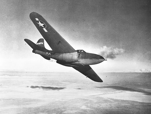Bell YP-59A Airacomet in flight near Muroc c1943