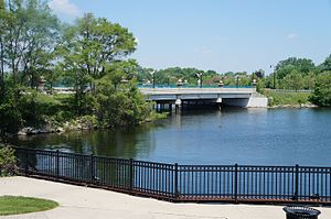Belleville, Michigan - Belleville Bridge from Doane's Landing