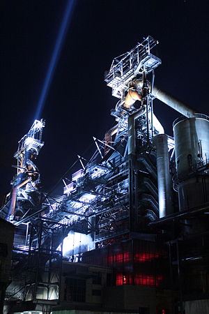 Belval illuminated blast furnaces 2014-07-04 --3.jpg