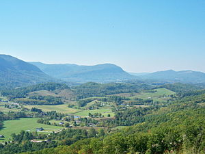 Wise County, Virginia - Powell Valley, as viewed from Benge's Gap