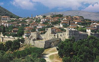Berat - View of the Citadel of Berat.