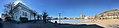 Bergen kulturskole, KODE 4, art museums, etc. by Lille Lungegårdsvann in Bergen, Norway. Distorted panorama 2018-03-18.jpg
