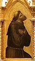Bernardo daddi, madonna in trono e quattro snati, 1325-35, dall'ospedale di prato, 02 francesco.jpg