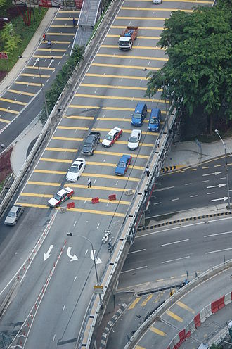 Bersih 2.0 rally - The police enforced road blocks throughout the city to discourage turnout.