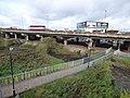 Bescot Stadium Station - M6 - River Tame - path (38151940492).jpg