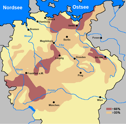 Reduction in population of Holy Roman Empire compared to pre-war. 33-66% > 66% Bevolkerkungsruckgang im HRRDN nach dem Dreissigjahrigen Krieg.PNG