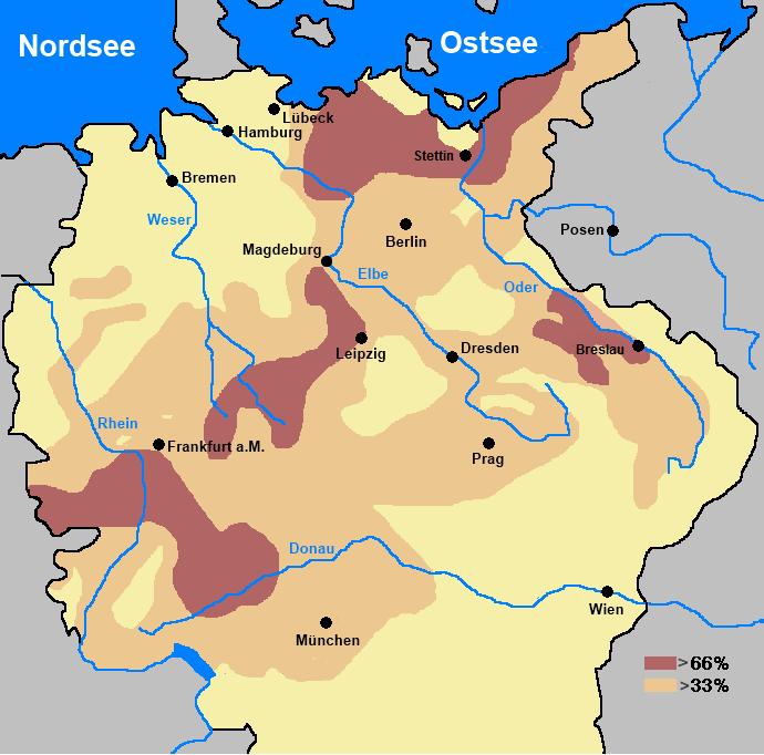Bevölkerkungsrückgang im HRRDN nach dem Dreißigjährigen Krieg