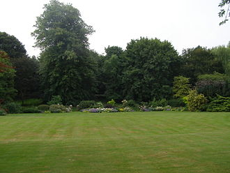 Beverston Castle - Garden at Beverston Castle looking south