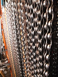 Bicycle chains handling on a bar.jpg