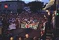 Bill Clinton and Chelsea Clinton Addressing a Crowd.jpg