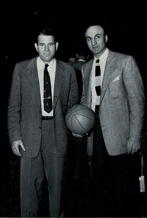 William Perigo - Perigo (left) and Matt Patanelli from 1955 Michiganensian